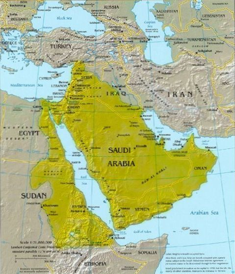 Map of ALL the land promised to Abraham and his descendants.