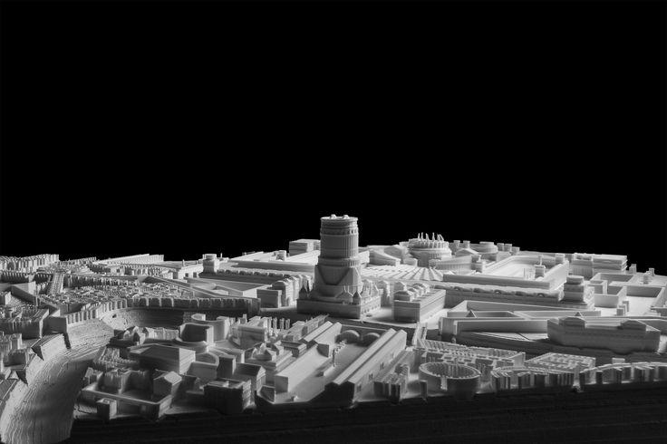 Gian Battista Piranesi - Campo Marzio Cast plaster and 3D printing mixed model