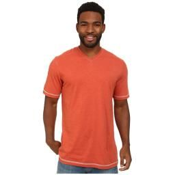 McKinney V Neck Tee, Ginger Spice, XXL : A soft cotton-poly blend for all-day wear. Features a ribbed v-neckline and contrasting stitch details.
