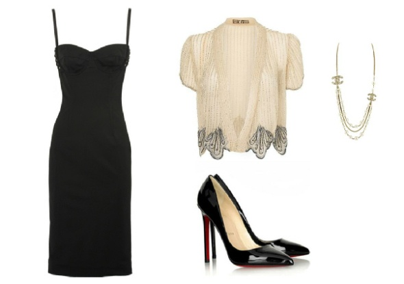 Dress up the LBD with accessories