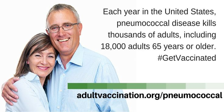 Learn more about pneumococcal disease at adultvaccination.org/pneumococcal