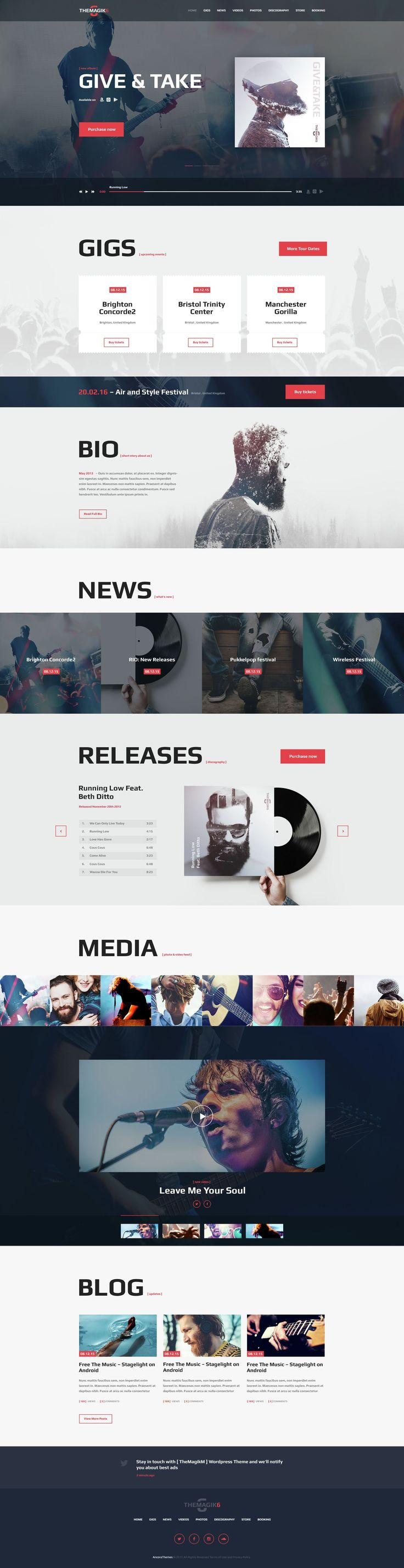 TheMagic6 is a WordPress theme with functional modern design best suitable for…