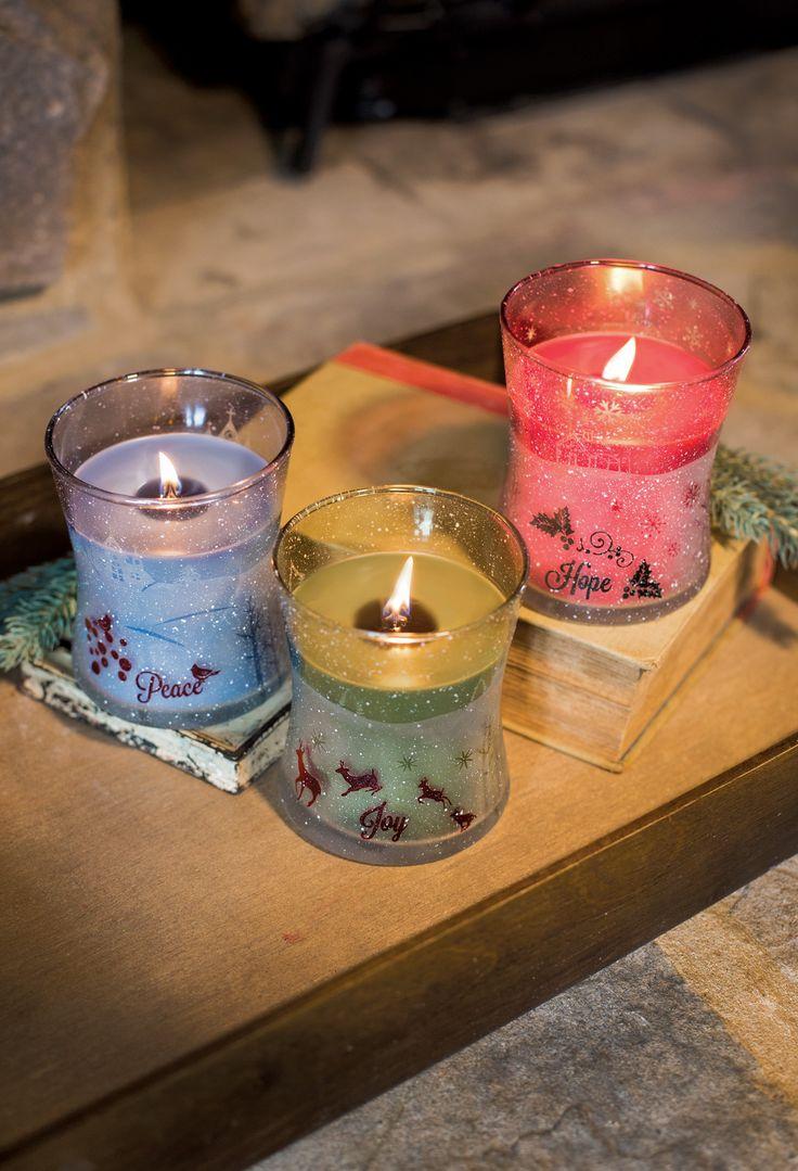 Świece świąteczne  / Christmas candles Wood Wick Cinamon Cheer, Frasier Fir, Mint Truffle