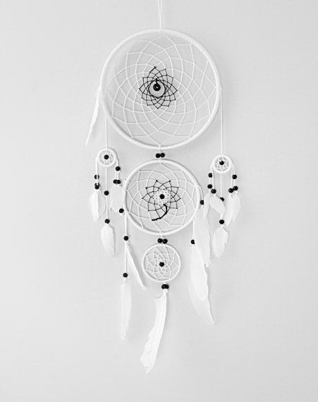Hey, I found this really awesome Etsy listing at https://www.etsy.com/listing/219832461/white-dream-catcher-large-triple-dream