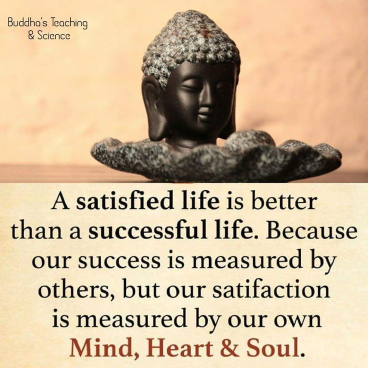 A satisfied life is the true #success