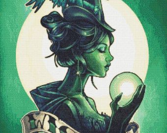 Wicked  - emailed PDF cross-stitch chart / pattern, original art © Tim Shumate, licenced by Paine Free Crafts