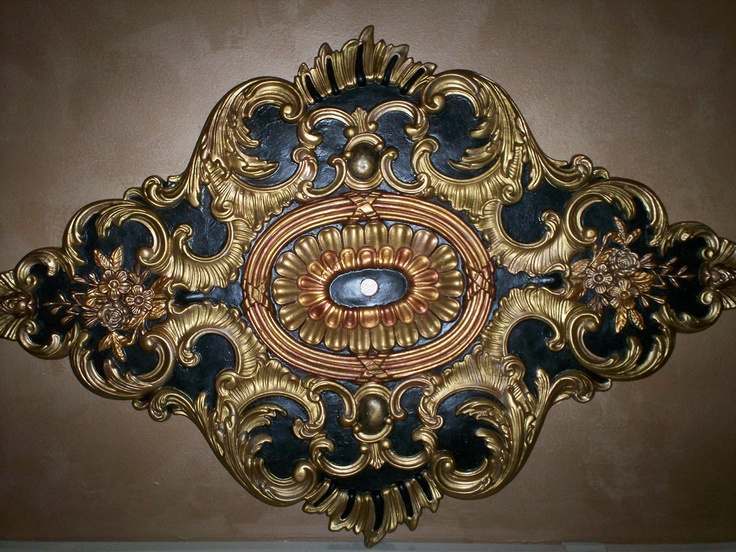 faux painted ceilings | Hand painted decorative metallic ceiling by SophisticatedGlitz