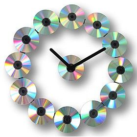Reloj de Pared de CDs. Curiosite