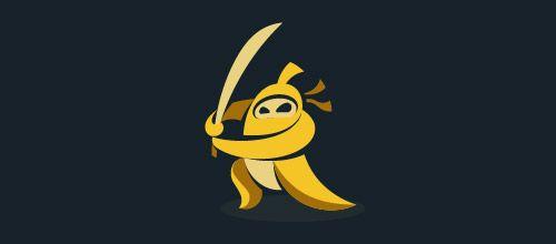 banana ninja logo designs
