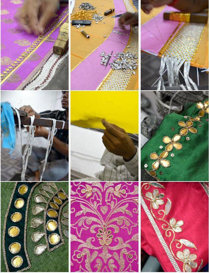 Featured Craft | Gota Patti Borders | Lappe Ka Kaam – DesiCrafts