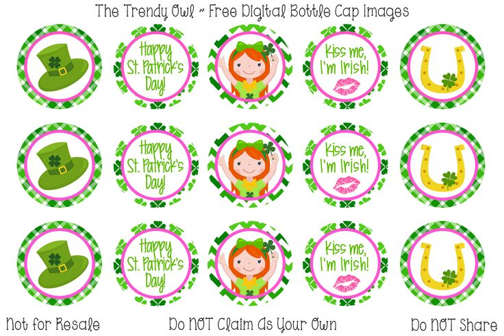 St Patrick's Day <3 Retired images uploaded as freebies! Enjoy! ~ FREE Digital Bottle Cap Images!! https://www.facebook.com/thetrendyowlUS http://www.thetrendyowl.com