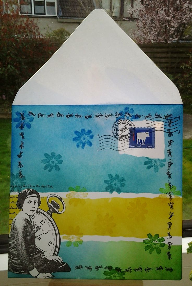 Art Journey Design-team: Art Journey Challenge # 44: Mail Art Envelope
