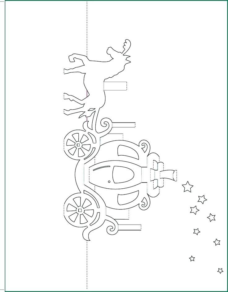 Carriage Pop Up Card Free Paper Craft Template Download Printable Templates Wedding Pop Up Card Templates Kirigami Patterns Kirigami Templates