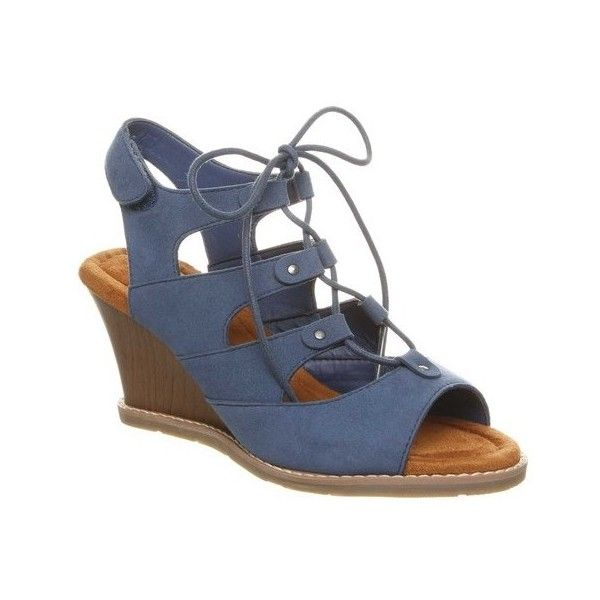 ad071a99837 Women s Bearpaw Rhonda Wedge Sandal ( 50) ❤ liked on Polyvore featuring  shoes