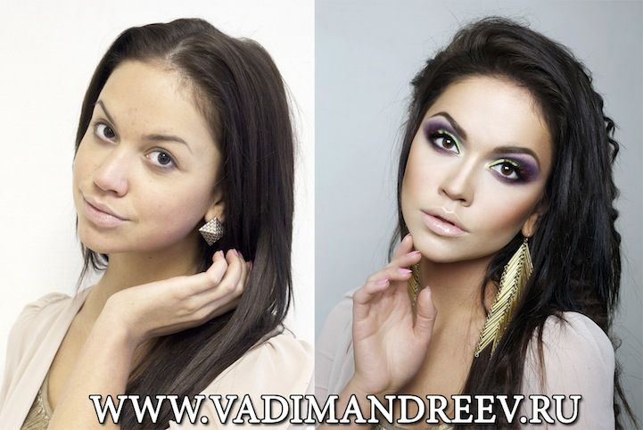 Russian Make-Up Artist makes over women and turns them into models - no camera tricks or photoshop! Amazing!