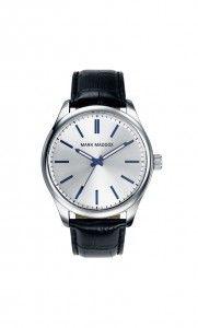 Colección Classic - HC3002-17.Reloj tres agujas IP Silver. Con correa negra, esfera gris e índices y agujas en azul. Cierre de hebilla. Cristal mineral. Impermeable 30m (3ATM). Precio: 35,00 €
