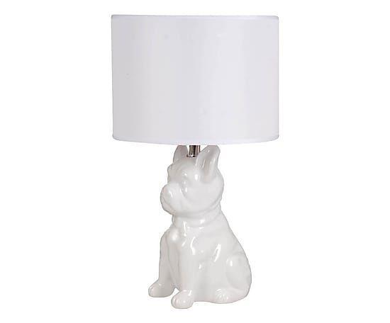 """89zł Lampa stołowa """"Hund White"""", Ø 25, wys. 44 cm"""
