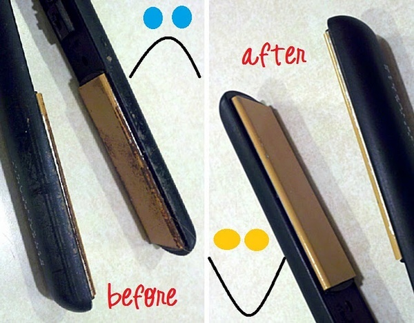 """Home made way to clean your Flat Iron! - """"Turns out this was hardly even a challenge for the """"miracle cleaner"""". :-)  I made my usual paste of baking soda and hydrogen peroxide and started rubbing it in with my fingers.  It immediately took all but the thickest parts of gunk off with hardly any effort at all."""""""