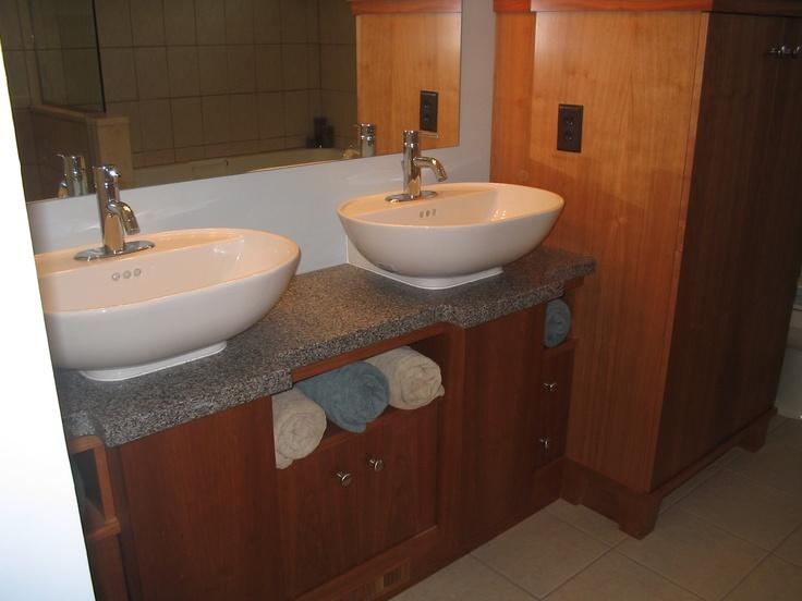 quartz vanity top with vessel bowls. 18 best Bathroom sink vanity images on Pinterest