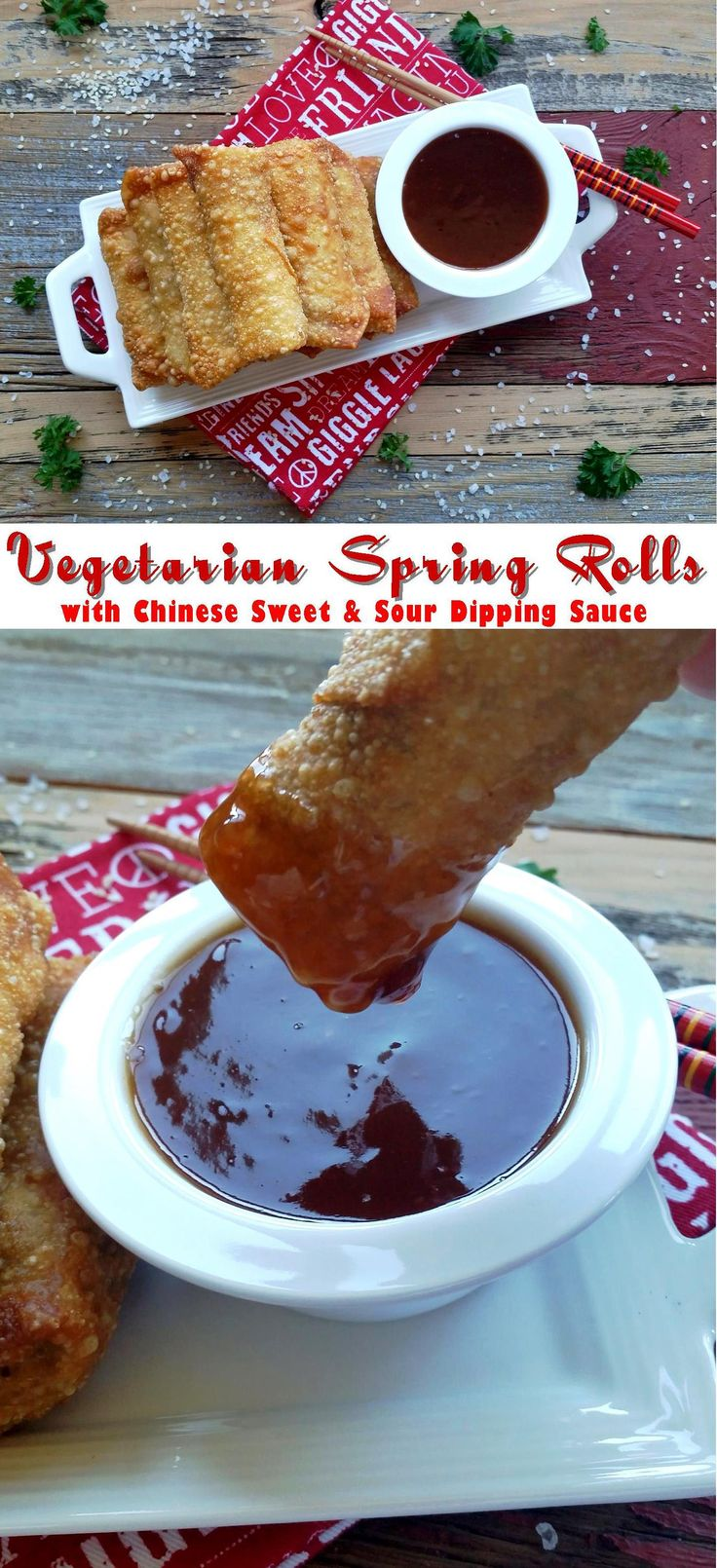 ... Spring rolls, Vietnamese fried spring rolls and Chinese spring rolls