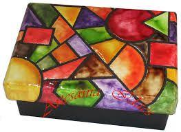 Resultado de imagen para como hacer bandeja con falso mosaiquismo pintado