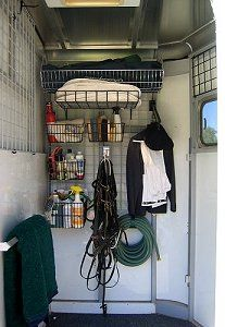 The Organized Barn And Trailer Kits To Be Mounted On Wall Of Tack Stall At Show Etc