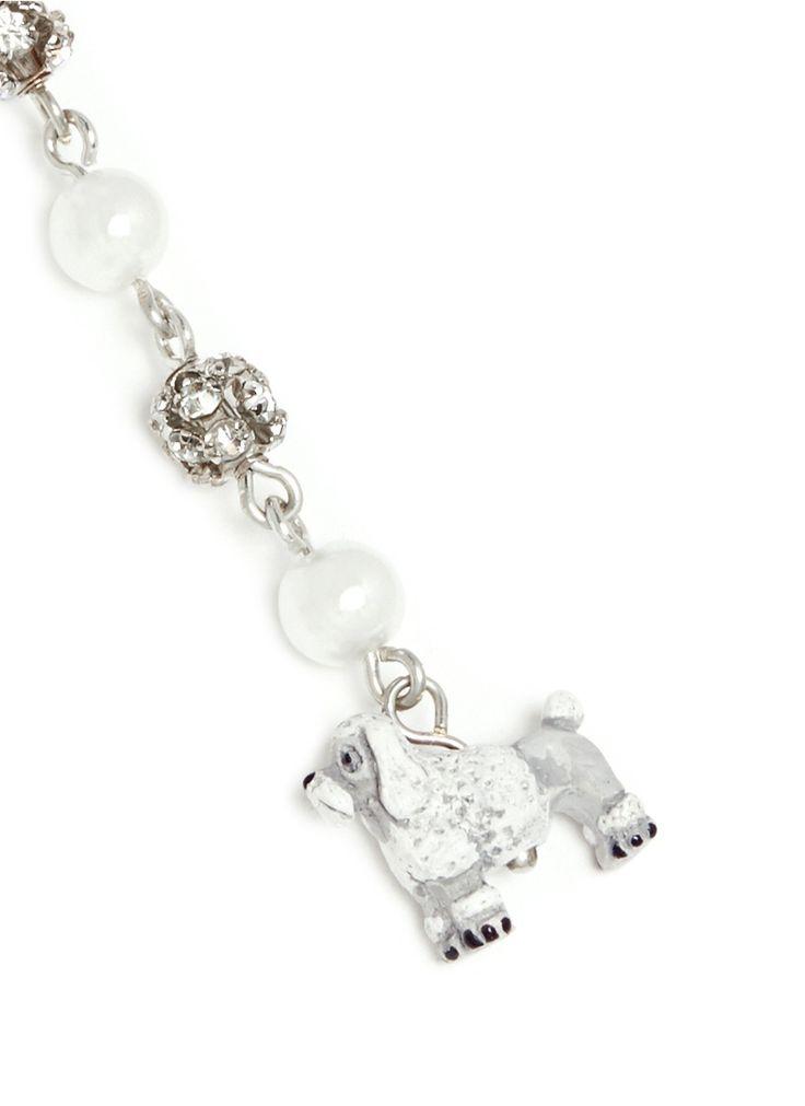 VENESSA ARIZAGA - 'Poodle Around' drop earrings | White Earrings Fashion Jewellery | Womenswear | Lane Crawford