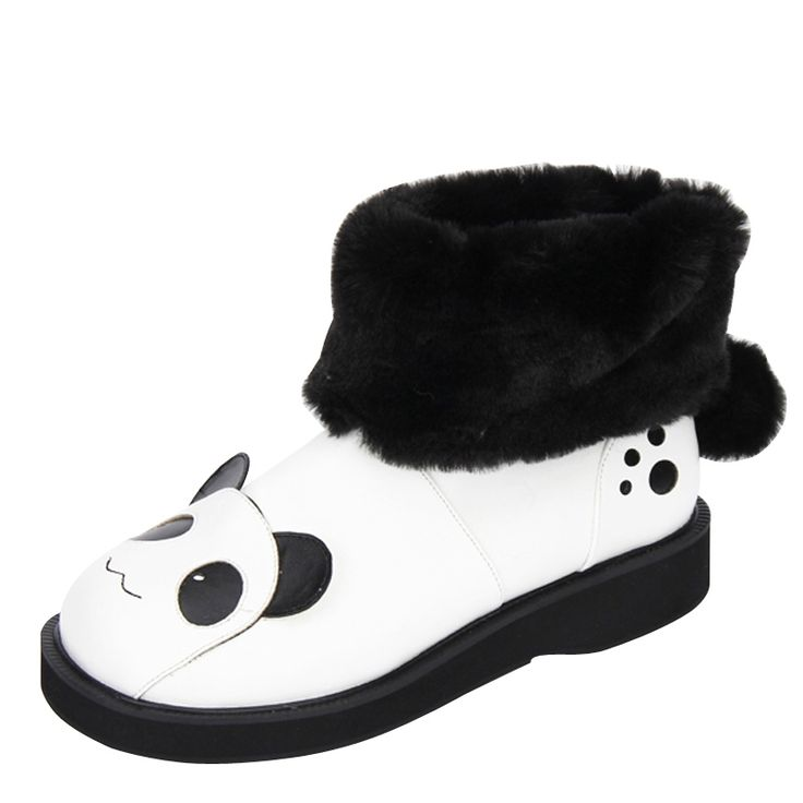76.64$  Buy here - http://aliqx4.shopchina.info/1/go.php?t=32795417393 - Plus Size 33~47 Women winter snow boots new fashion lolita punk ankle boots cos boots low heel cut cartoon boot L3888  #SHOPPING