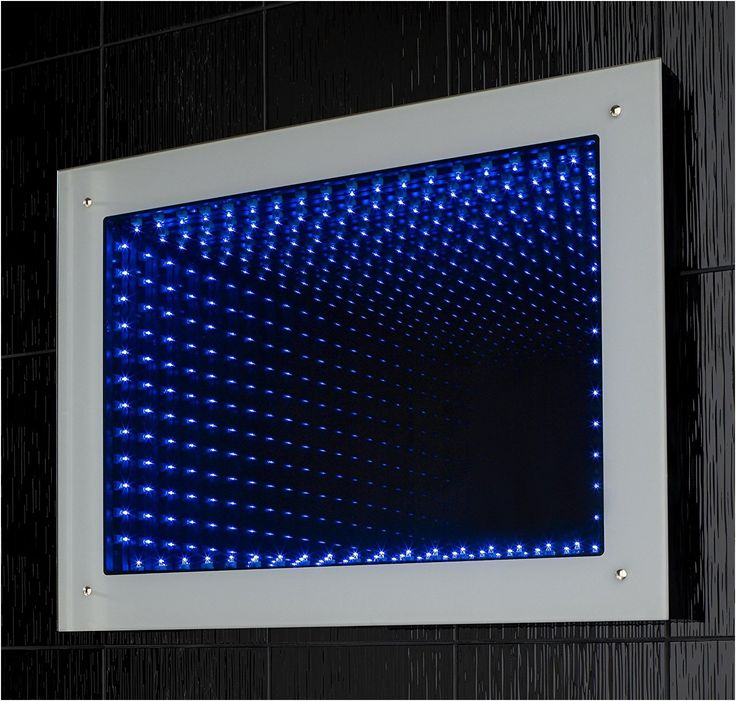 Orion Led 3d Infinity Bathroom Mirror With Lights 800mm W X 600mm From