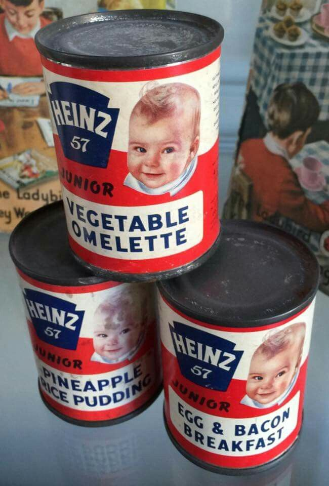 1960's Heniz 57 tinned baby food.