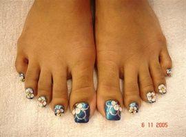 Long Acrylic Toes by NailArtMaria