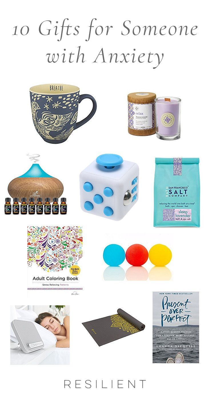 If you have a loved one with anxiety, you might be wondering if there's anything you can get for them as a way to show your support, especially if you can't be with them all the time. Besides actually being there for someone, listening to them, and being a good friend, here are 10 gifts for someone with anxiety (or gifts for yourself :)). #anxiety #anxious #anxietygifts #anxietyproducts