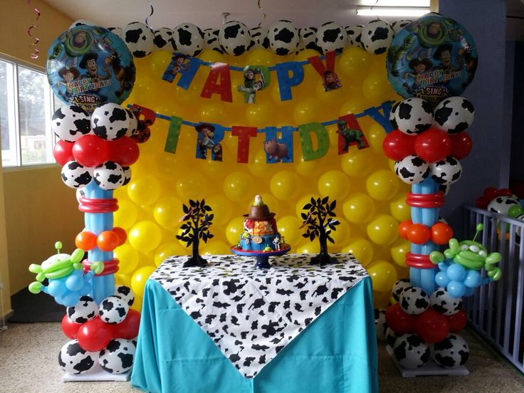 7 best birthday balloons decorations images on pinterest for Balloon cake decoration