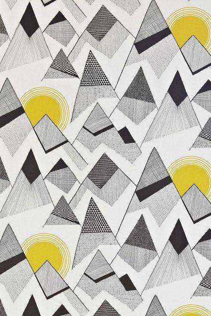 MissPrint Mountains - Wallpaper Ideas & Designs - Living Room & Bedroom (houseandgarden.co.uk)