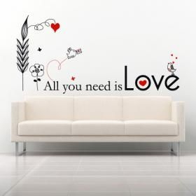 Vinilos Adhesivos Frases All You Need Is Love #decoracion #decoración #vinilosdecorativos #decoraciondelhogar #pegatinas #adhesivos #decoracionhogar #decoracióndelhogar #decoraciónhogar