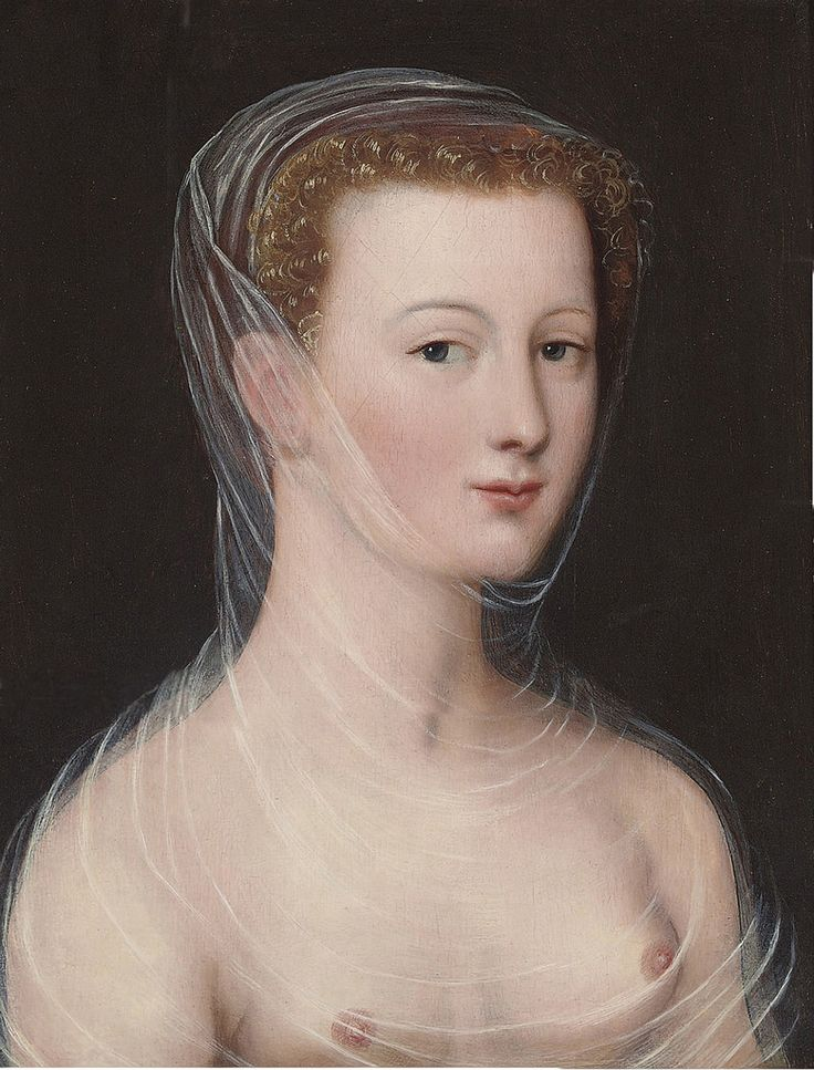 Portrait of Diane de Poitiers (1499-1556)  by an artist of the  French School