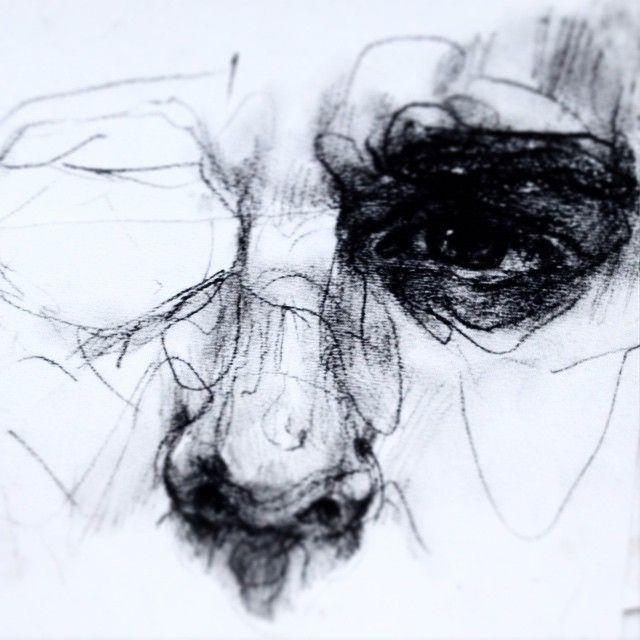 Charcoal study. #art #drawing #sketch #illustration