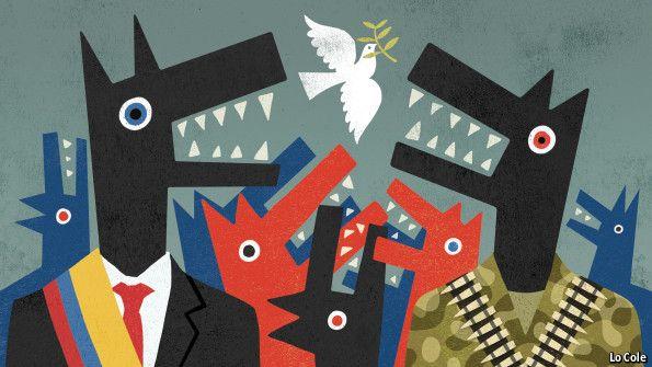Publicación del Diario The Economis, sobre el Proceso de paz en Colombia, publicado hoy 30 de octubre de 2014.