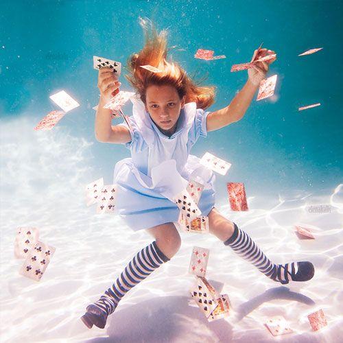 Looking for the Queen of Hearts: Underwater Photos, Underwater Alice, Elenakalis, Alice In Wonderland, Art, Underwater Photography, Elena Kalis, Aliceinwonderland, Cards
