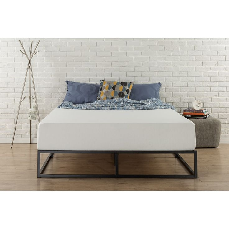 priage 10inch steel box bed frame king walmartcom