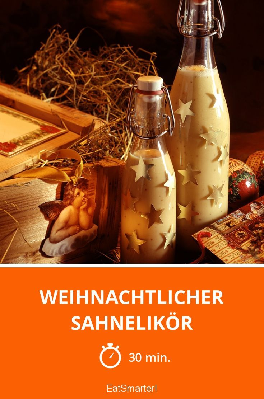 Weihnachtlicher Sahnelikör selbst gemacht zum Verschenken | http://eatsmarter.de/rezepte/weihnachtlicher-sahnelikoer