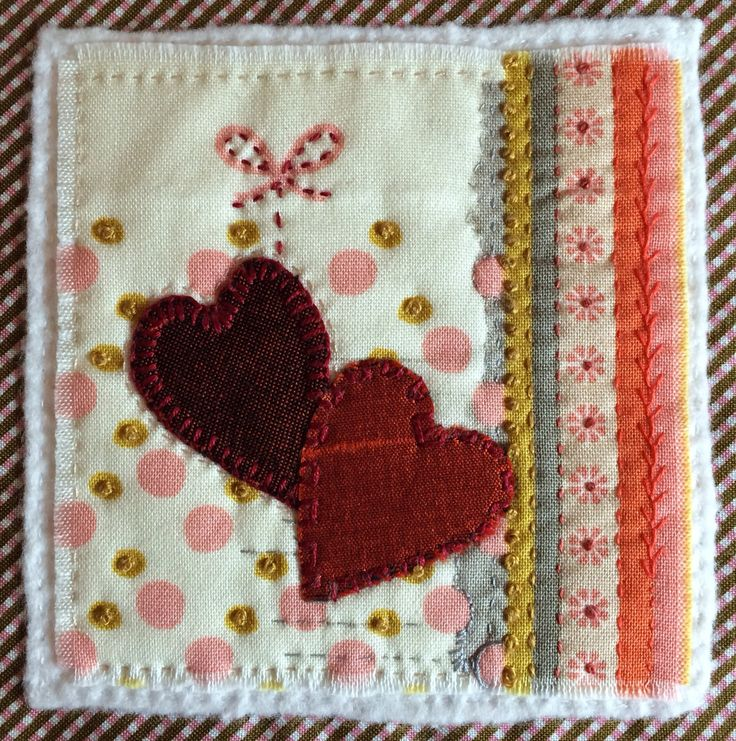 Two Hearts Are Better Than One (10cm sq)