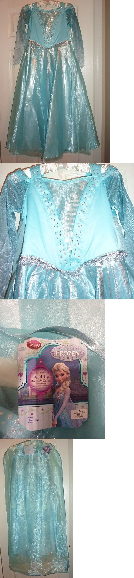 Kids Costumes: Disney Store Frozen Princess Elsa Light Up Dress And Cape, Brand New With Tags BUY IT NOW ONLY: $99.99