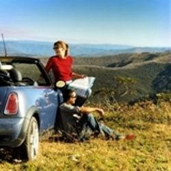 Touring the Great Alpine Road in Victoria's High Country, Australia.  Magnificent views.