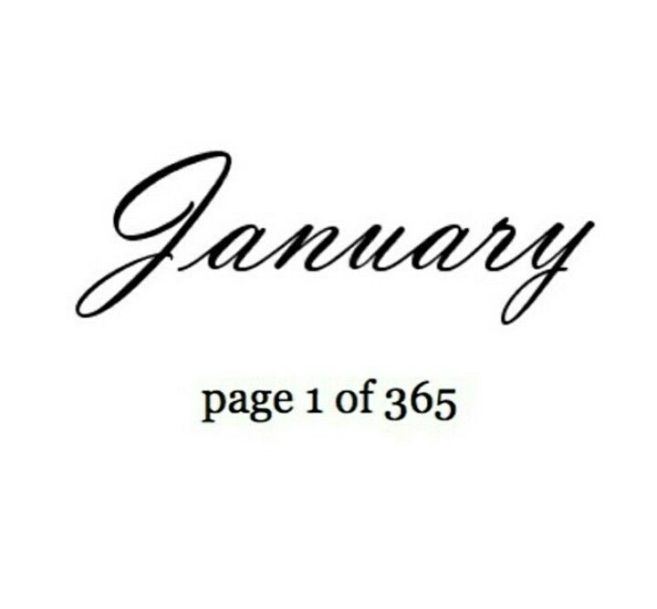 Page 1 >> January Page 1 Of 365 Awesome