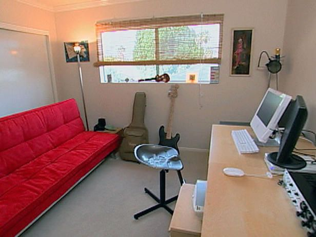 modern home officeguest room