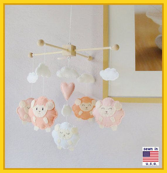 Baby Mobile Lamb Baby Mobile Sheep Mobile Baby Shower Gift