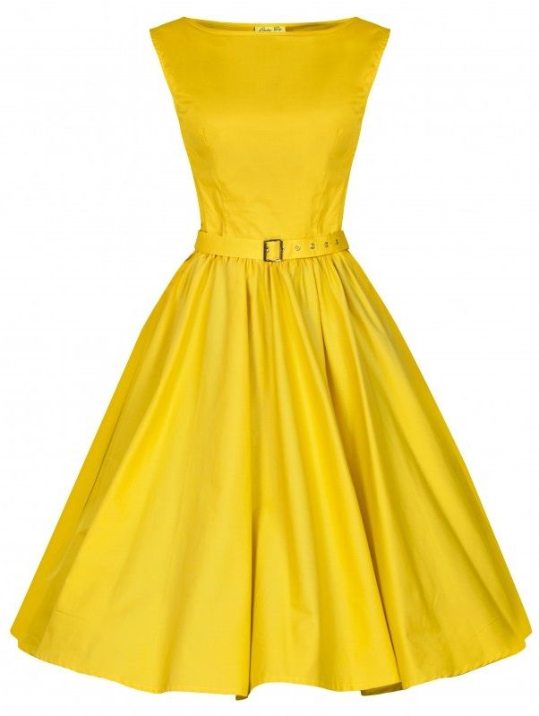 POSHme - LindyBop šaty Audrey, žluté