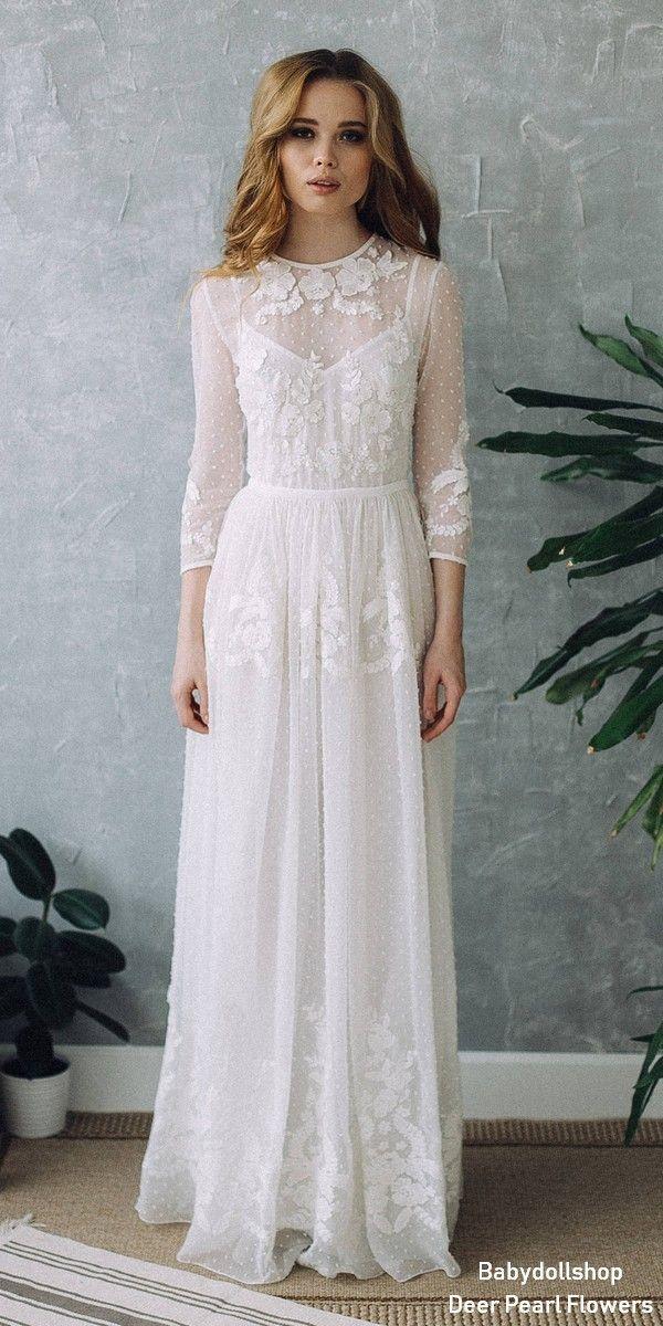 5c96f0c466a Vintage Boho Lace Wedding Dress D0101  wedding  dresses  weddingdresses weddingideas   deerpearlflowers