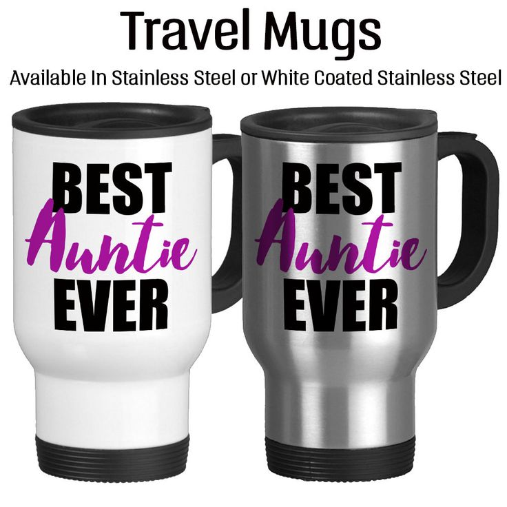 Best Auntie Ever, Number One Aunt, Gifts For Auntie, Favorite Aunt ,Travel Mug, 14oz, Stainless, White, Insulated, Coffee Mug, Typography